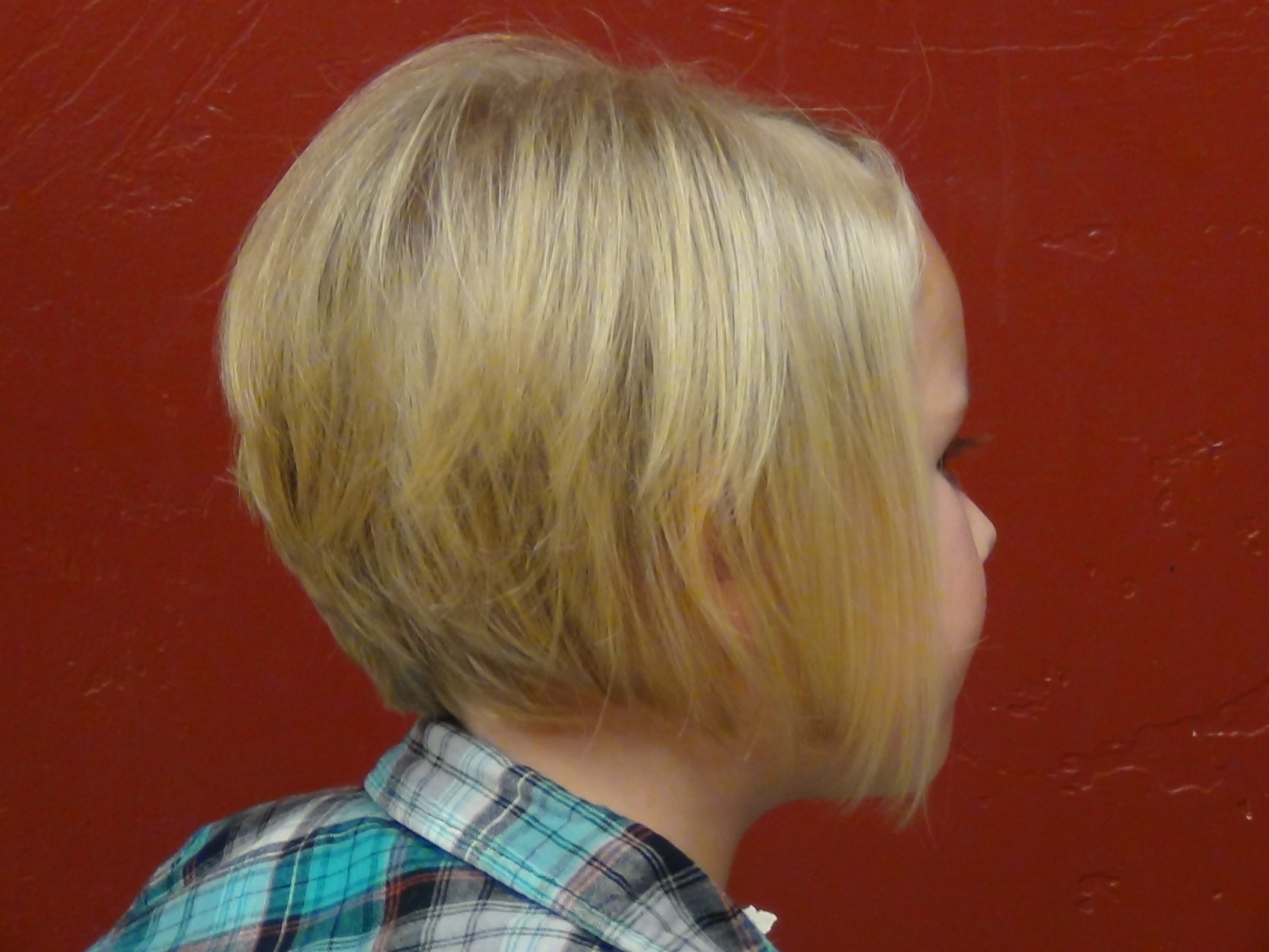 Little Girl Haircuts a Line Bob