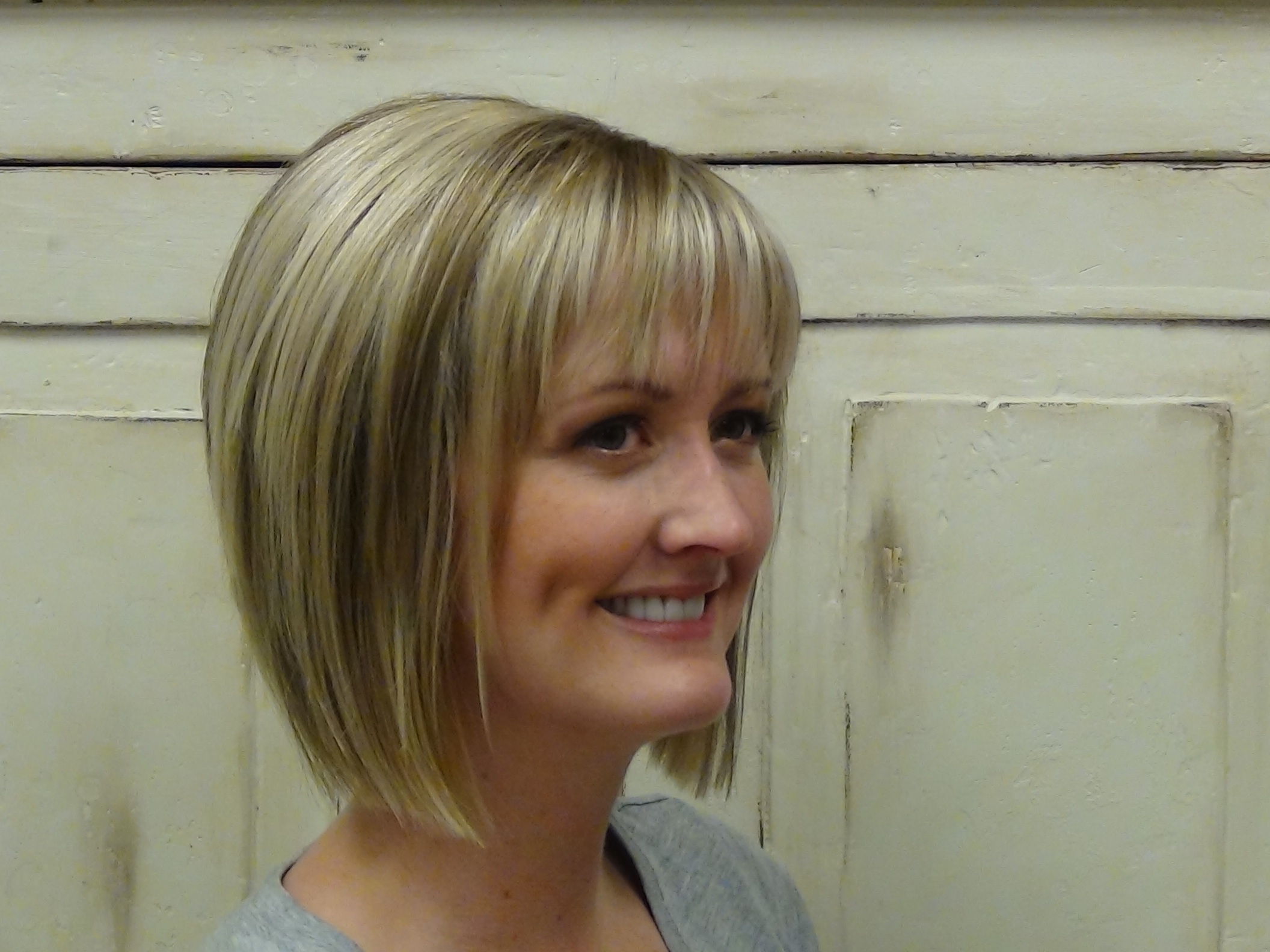Short Stacked Haircut with Straight